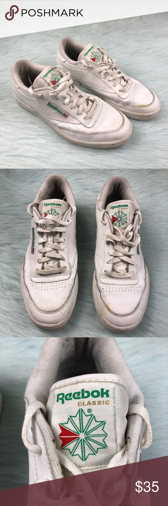c610816324ab2 Reebok Classic Club C 85 Vintage Tennis Shoes 11 Men s US size 11 Reebok  Classic Club C 85 white green sneakers. In good condition with minor wear.