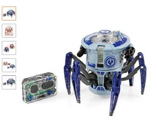 HexBug Battle Spider Blue Gray Micro Robotic Creatures Remote Controlled Light   #HexBug