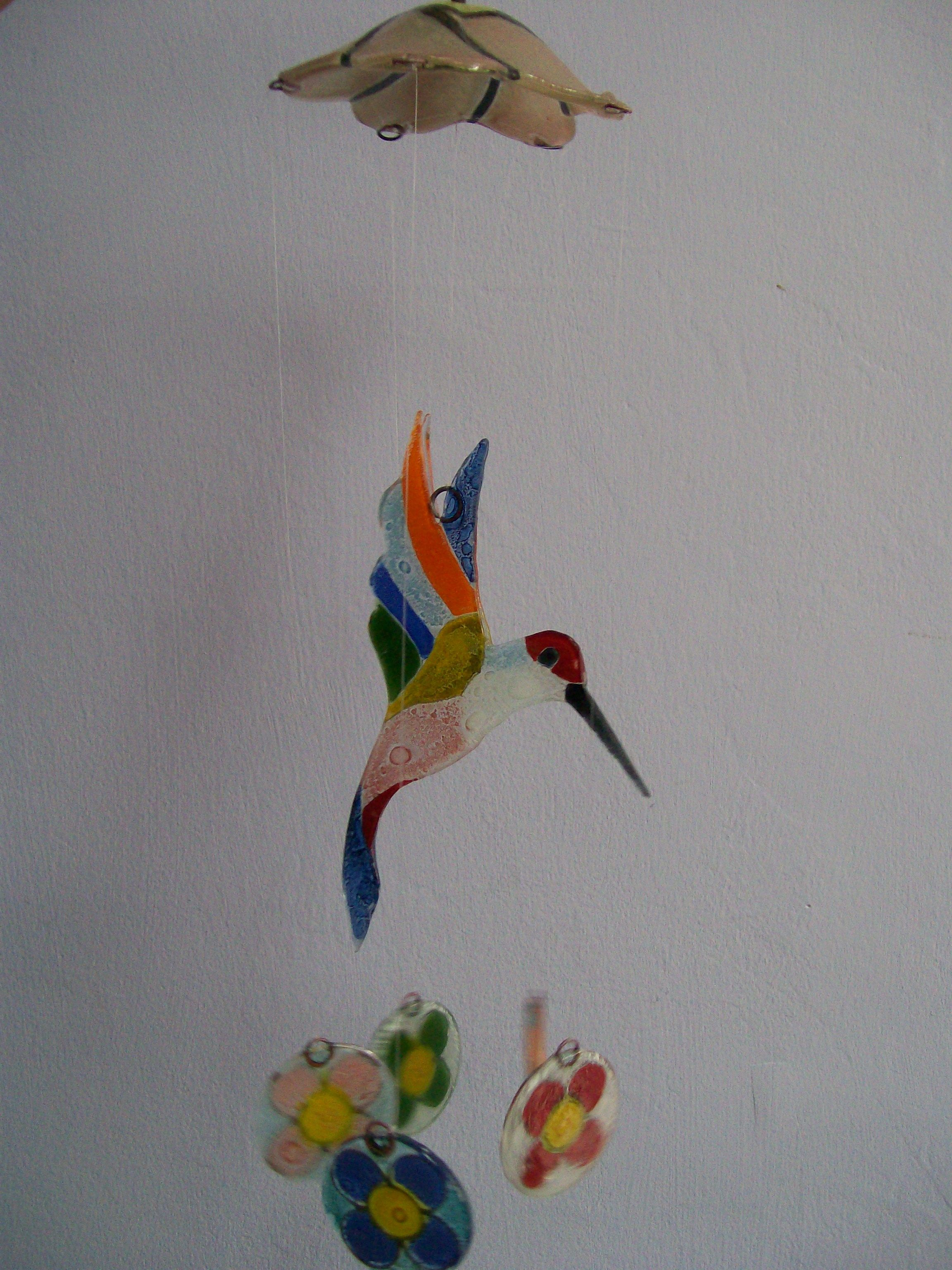 Un colibri...... Taller Arte Vidrio Taller