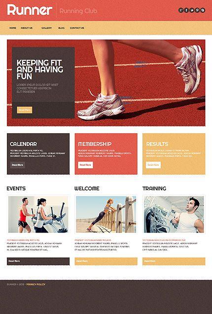 Template 42973 - Running Club WordPress Theme with Intro Slideshow - club membership template