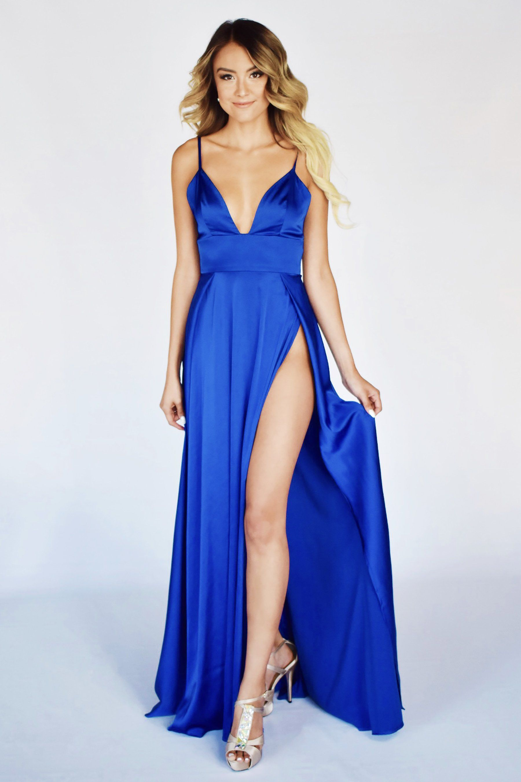 Ibiza gown all things bridesmaid pinterest double slit dress