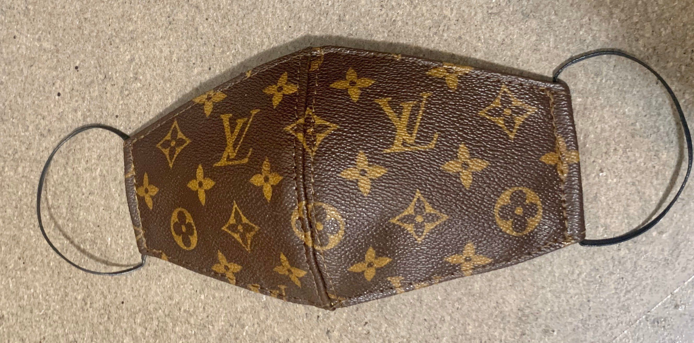 louis vuitton face mask Excited to share this item from my shop: Repurposed Louis