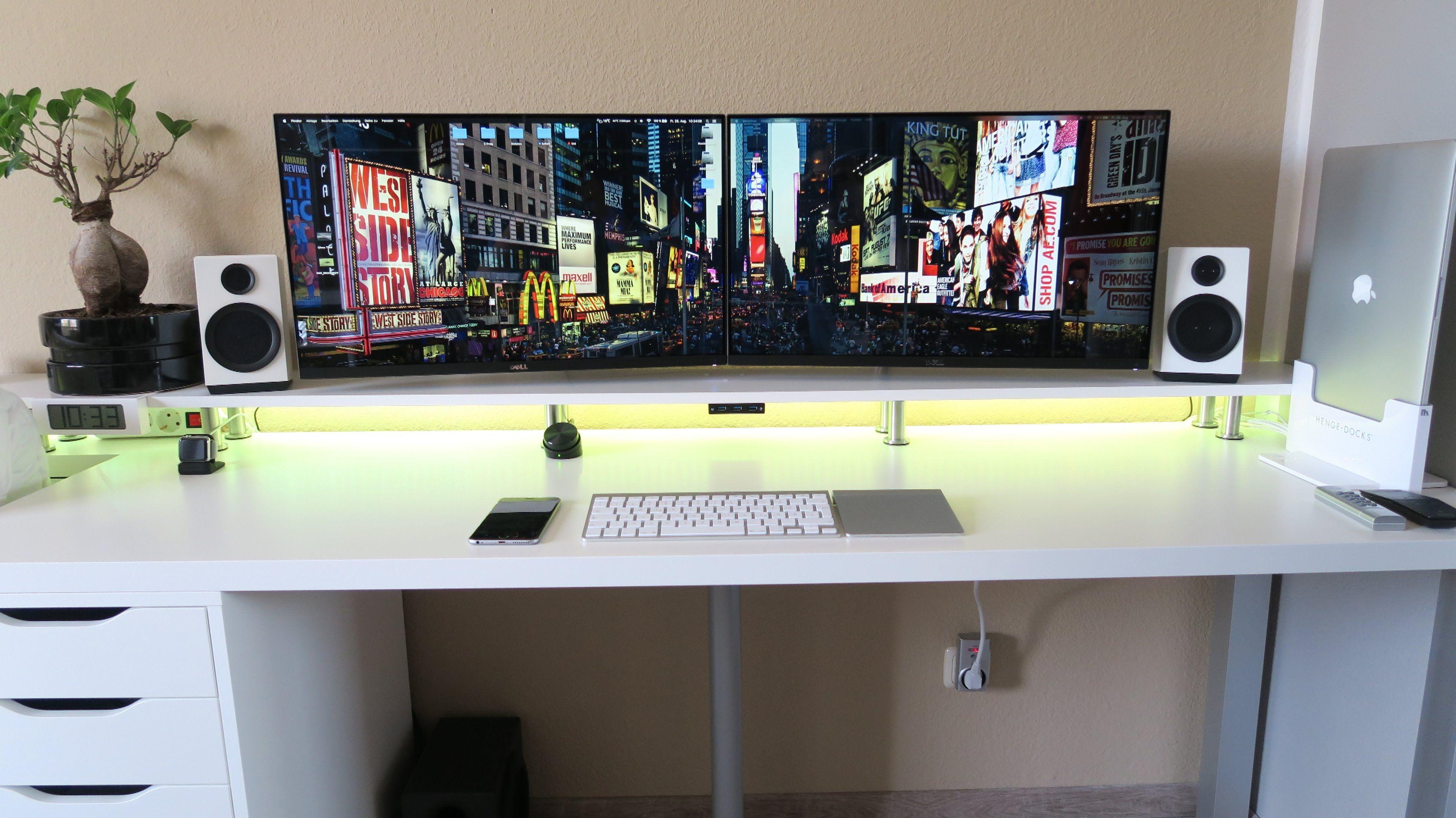Setup Wars Episode 27 Double Monitor Setup Gaming Room Setup Computer Desk Setup