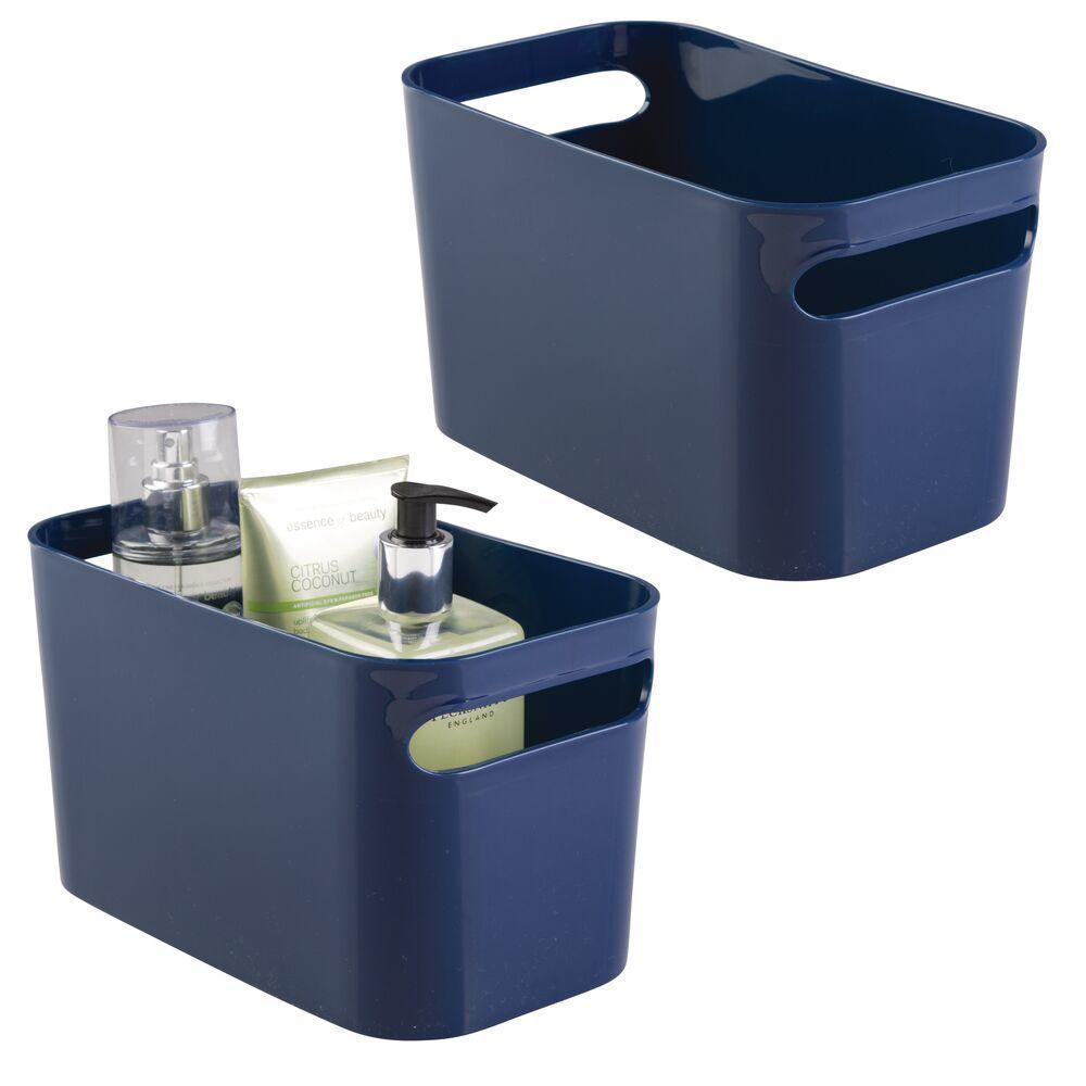 Photo of Plastic Bathroom Vanity Storage Organizer Tote Bin – 10″ x 6″ x 6″
