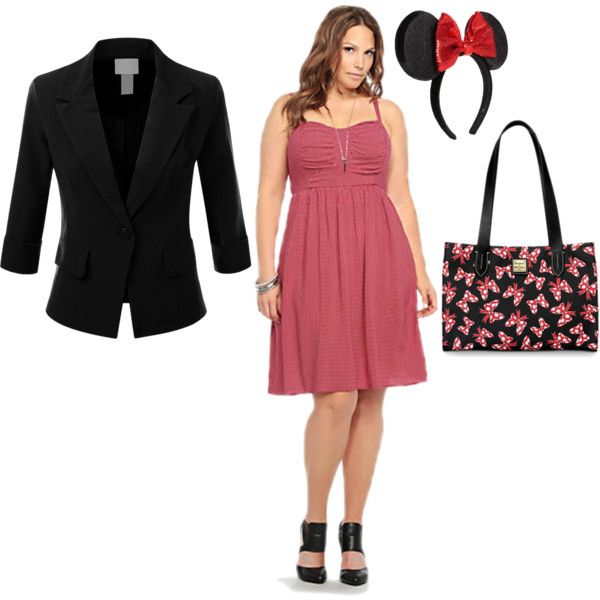 """""""Minnie Mouse Disneybound- casual evening look"""" by happilyeverawesome on Polyvore"""