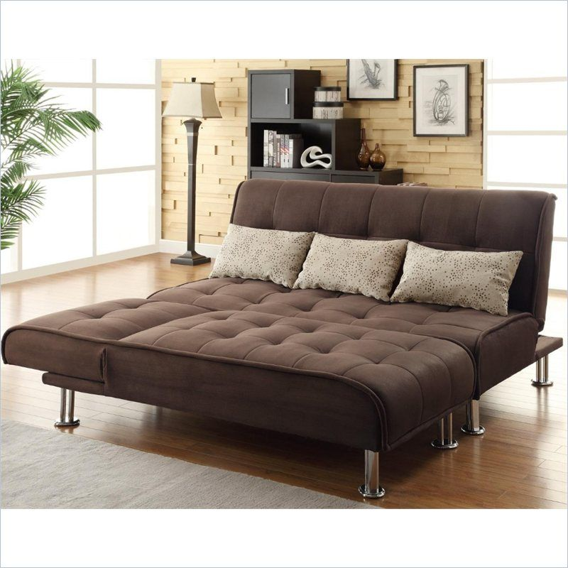 Coaster Transitional Styled Sleeper Sofa and Chaise in ...