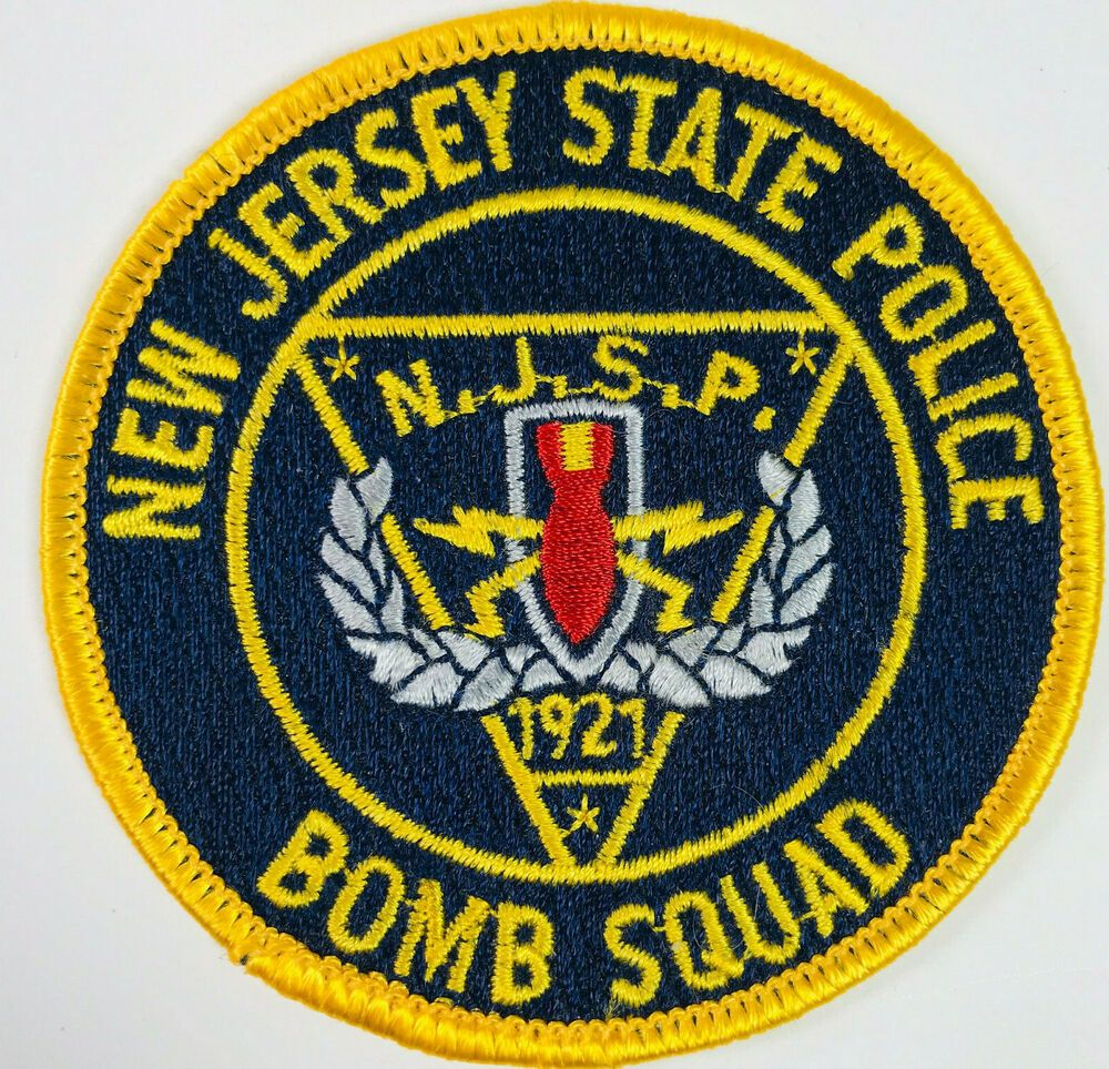 New Jersey State Police Bomb Squad Patch Patch State