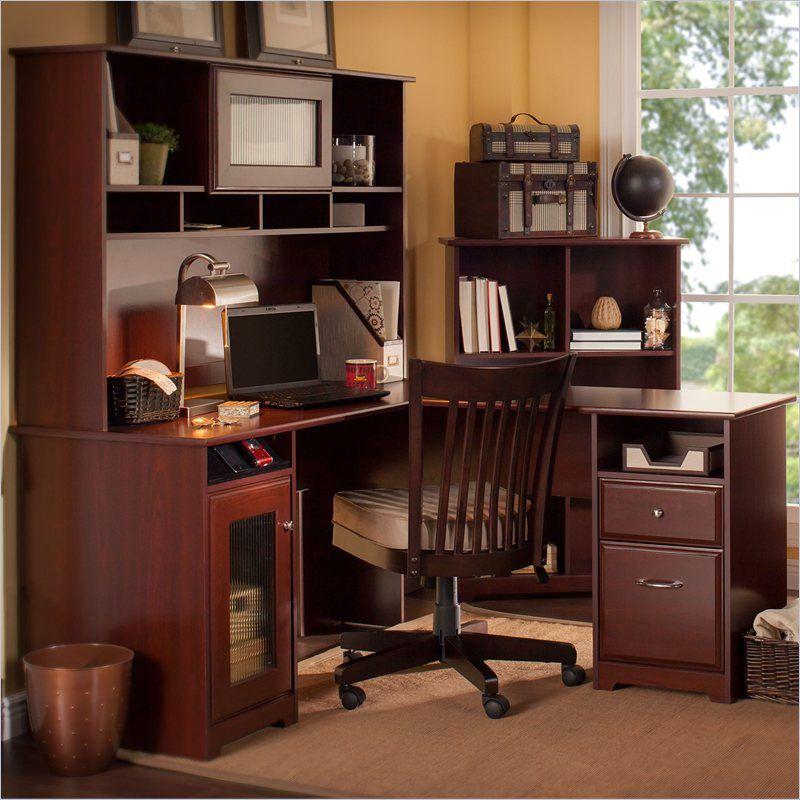 Bush L Shaped Desk With Hutch Laptop Desk For Bed