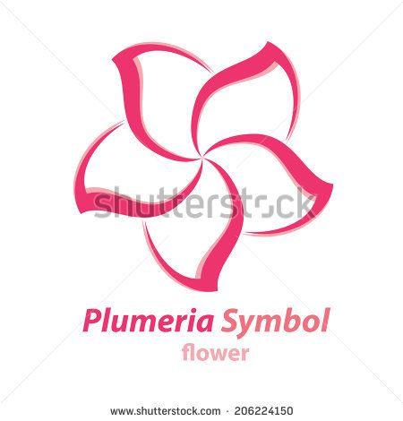 Vector Of Plumeria Frangipani Flower Symbol Icon Logo Template Design Flower Symbol Flower Line Drawings Frangipani