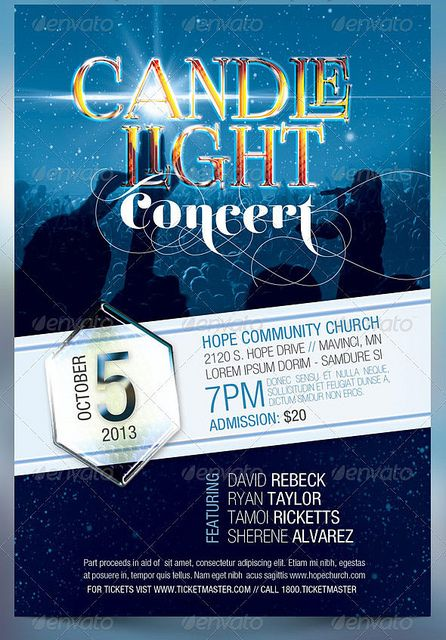 candle light concert flyer templates muisc retreat flyers
