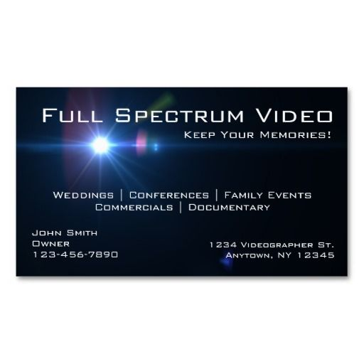 Videographer Business Cards Zazzle Com Printing Business Cards Photographer Business Cards Custom Business Cards