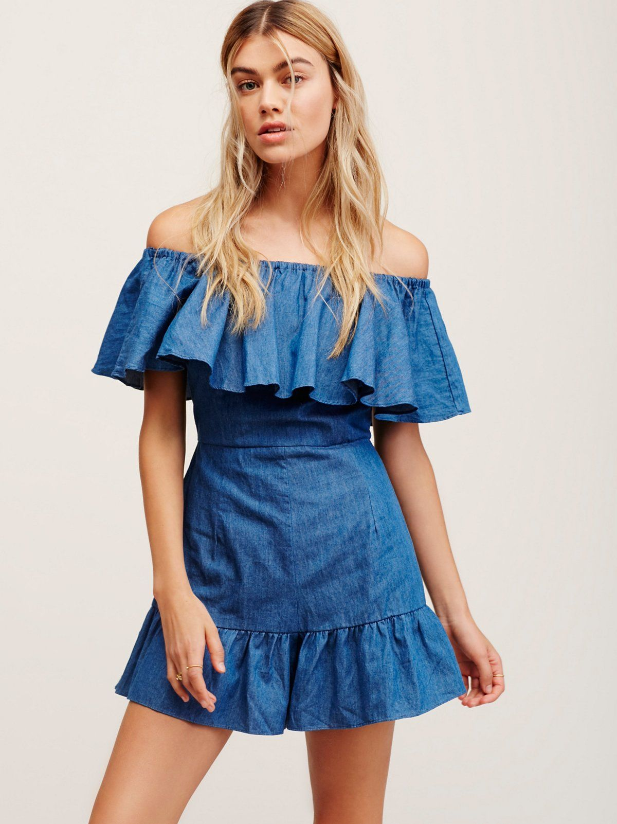 fe1d61716351 Genie Frill Playsuit. Jumpsuits   RompersPlaysuitsChambrayFree People  ClothingClothing BoutiquesOverlaysClosureRufflesSilhouette. Shakuhachi Denim  ...
