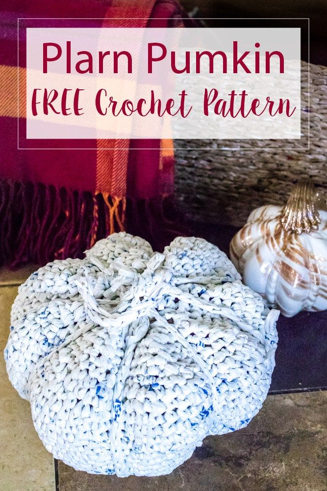 Plarn Pumpkin Free Crochet Pattern