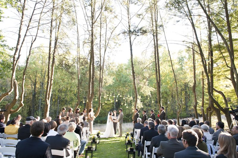 Woodend Sanctuary Wedding Ceremony Outdoors Whimsical And Woodsy At Yana Alex