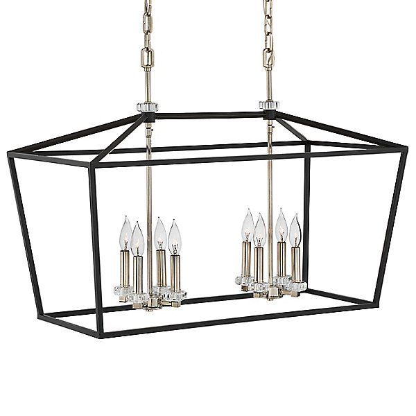 new style 32eca 63b3c Hinkley Lighting Stinson Linear Chandelier - 3534BK in Black ...
