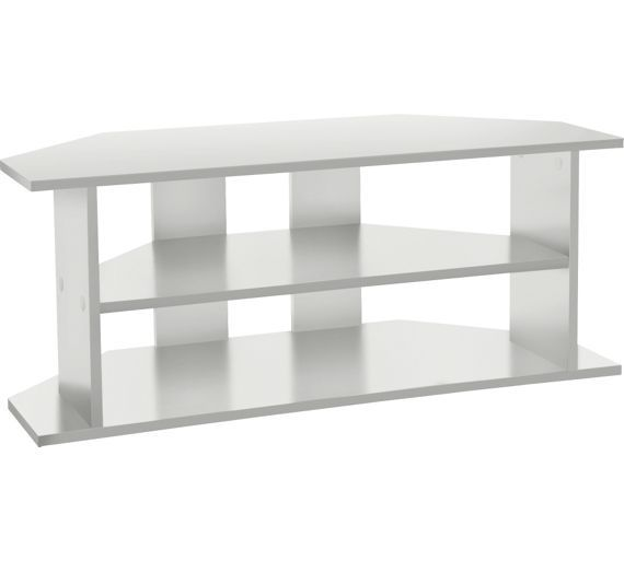 buy home large corner tv unit white at. Black Bedroom Furniture Sets. Home Design Ideas