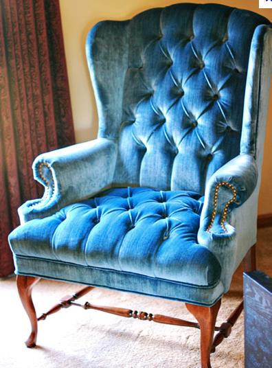 Velvet Chair Velvet Wingback Chair Blue Velvet Chairs Wingback