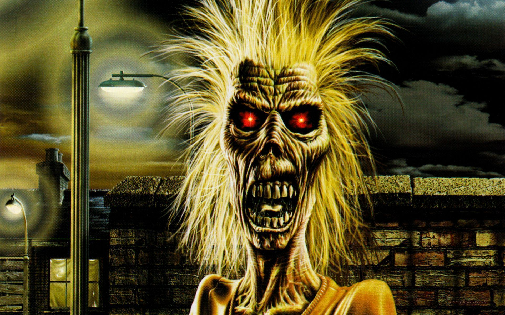 iron maiden heavy metal dark album cover eddie f wallpaper