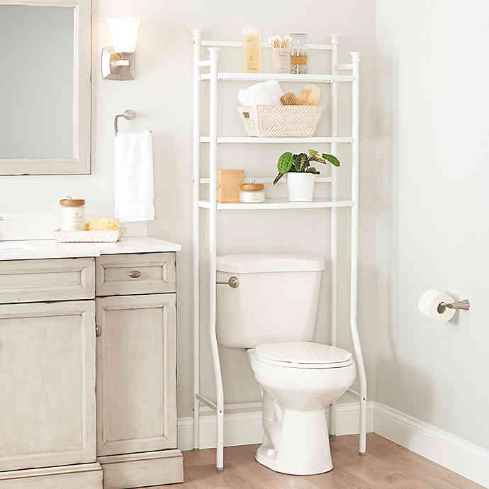 Org 3 Tier Over The Toilet Space Saver Bed Bath Beyond Decorating Bathroom Shelves Restroom Decor Small Space Bathroom