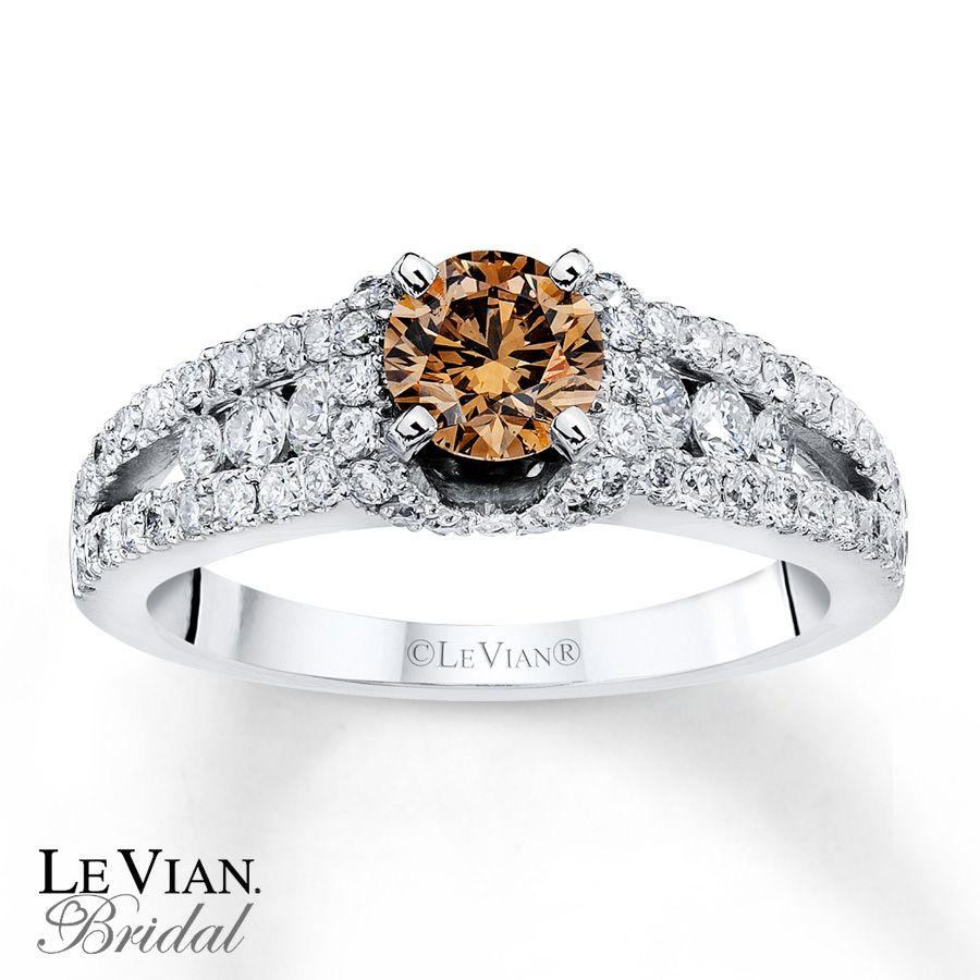 chocolate diamond engagement ring in 14 karat gold 30 - Chocolate Wedding Rings