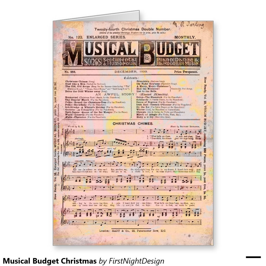 Musical Budget Christmas Card Pinterest Christmas Greeting Cards