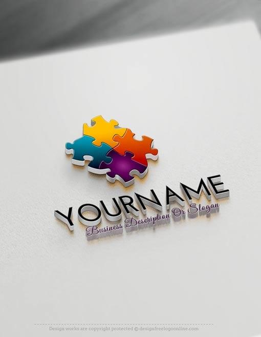 Create a Logo Free 3D Puzzle Logo Templates Create a