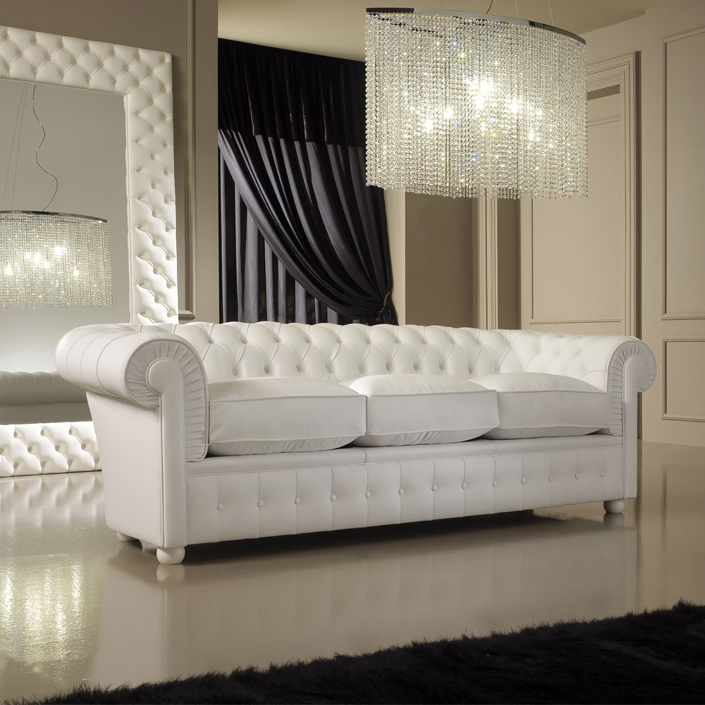 Lighting Plays Massive Role In The Overall Room Presentation And Thus Crystal Pendant Can Be Situated For Luxurious Result In 2020 White Leather Sofas Leather Sofa White Sofas