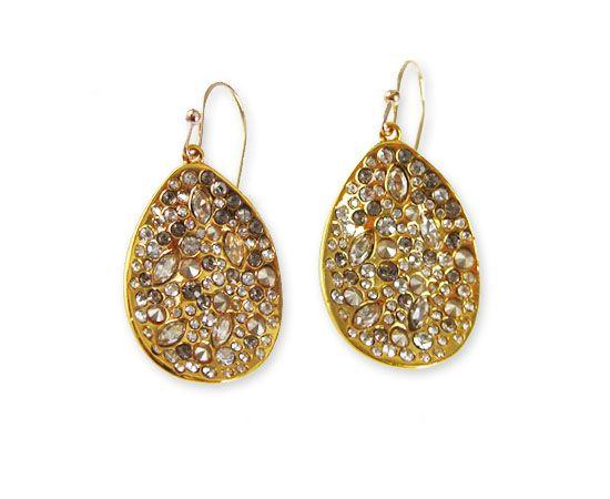 Alexis Bittar Miss Havisham Crystal Encrusted Small Drop Earrings - Gold