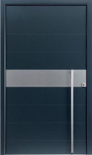 Porte aluminium, Porte entree, Bel\u0027m, Contemporaine, Barre de tirage