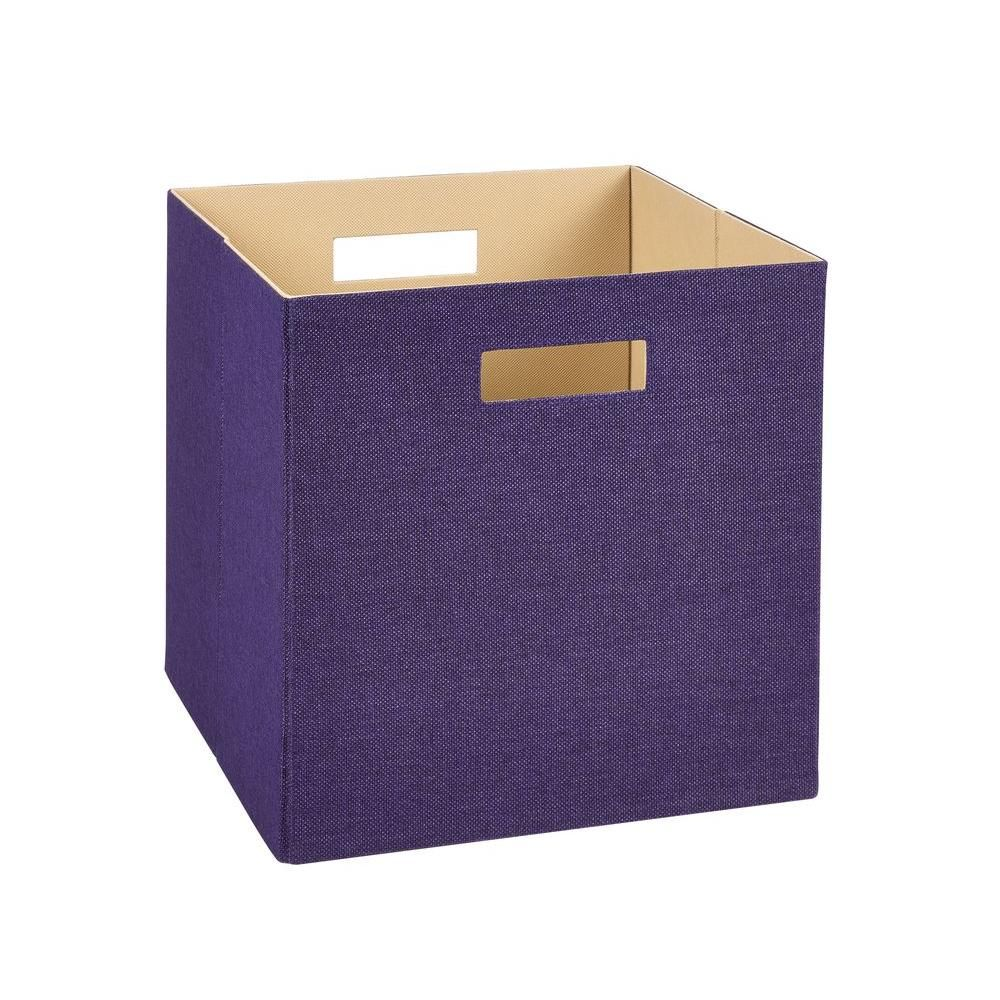 Decorative Fabric Storage Boxes 13 Inh X 13 Inw X 13 Ind Decorative Fabric Storage Bin In