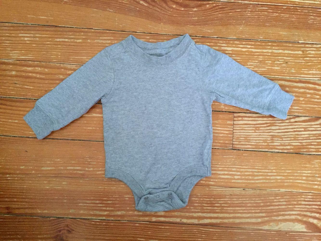 Old Navy 6-12 months grey long sleeve onesie