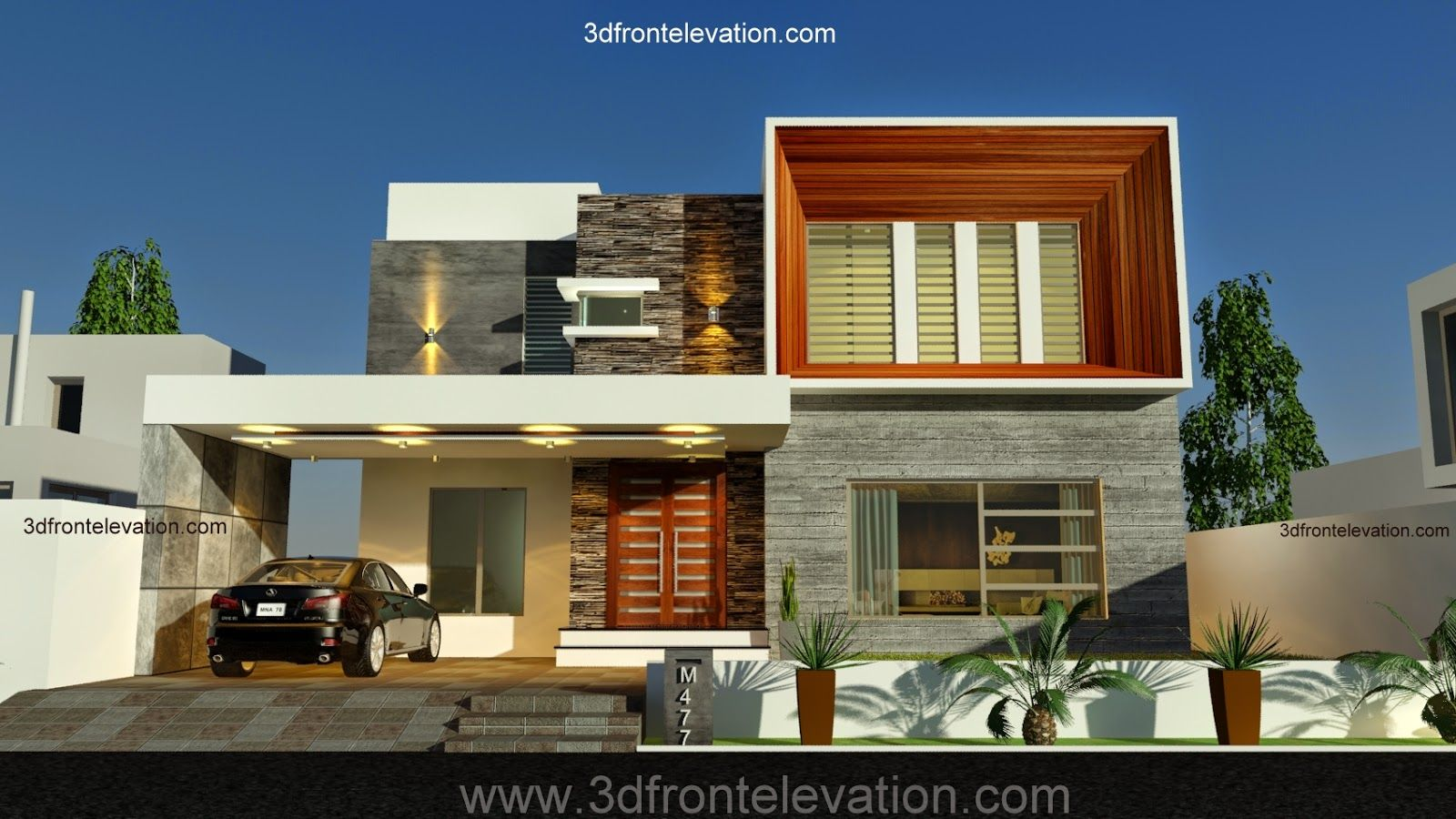 Front Elevation Of Houses In Uk : D front elevation new kanal contemporary house