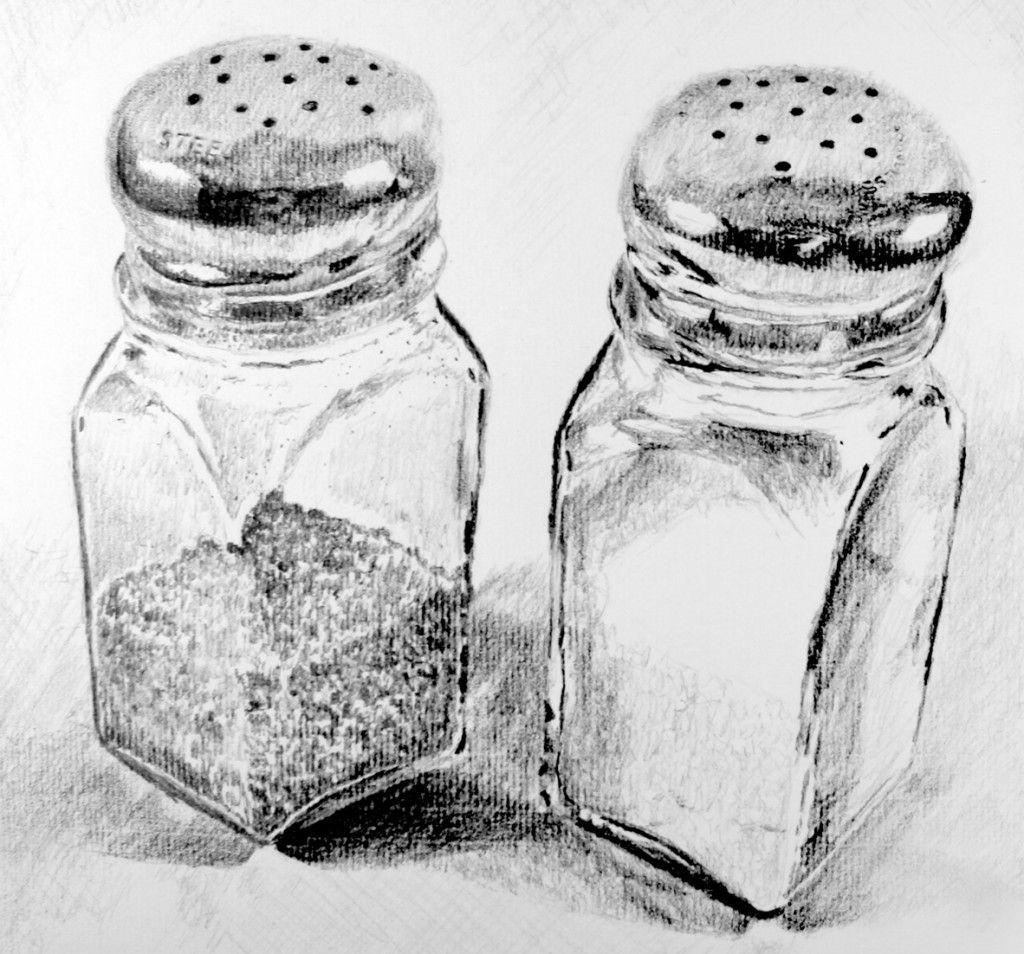 Salt And Pepper Drawing Pinterest Pepper