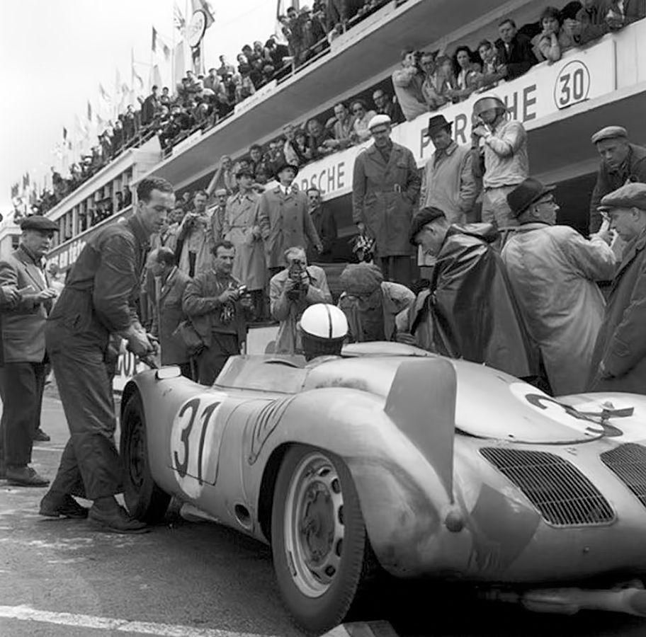 Le Mans 1958.Paul Frère / Jurgen Barth , Porsche 718 RSK