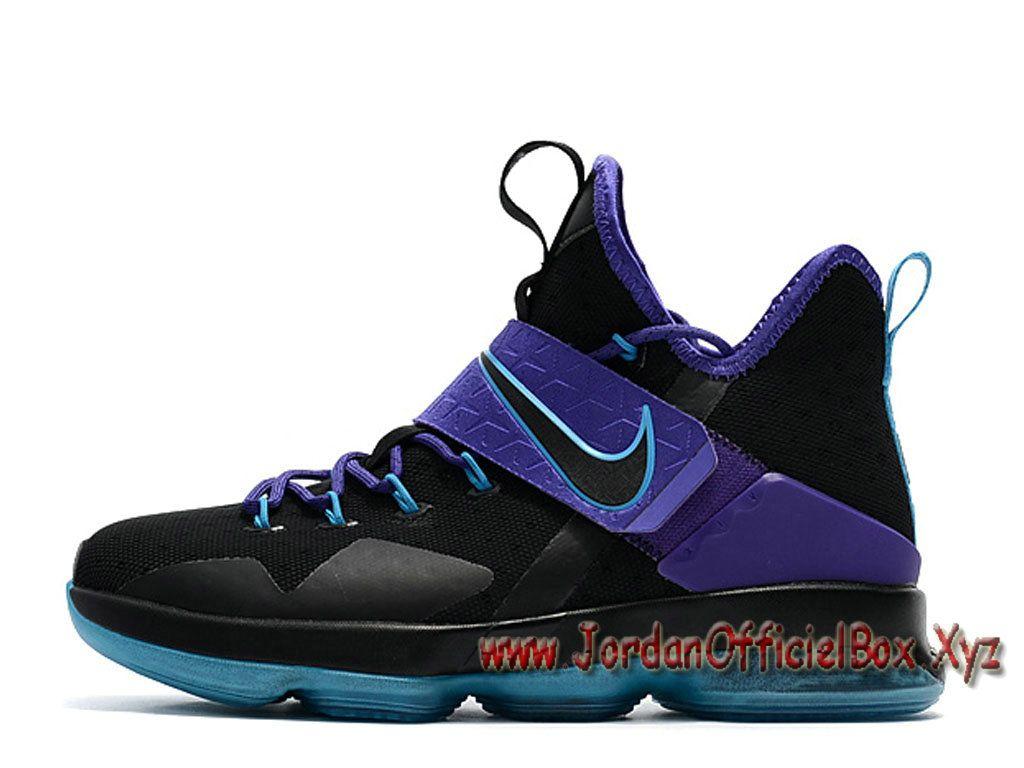 sale retailer 9a5ba 29396 Nike Wmns LeBron 14 GS Noir Pourpre FemmeEnfant Officiel NIke Lebron Pour  Noires-