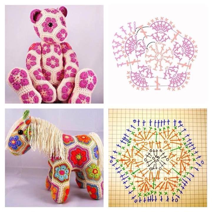 Granny Tiere | игрушки | Pinterest | Tier, Häkelschrift und Häkeln