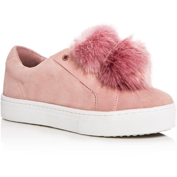 Sam Edelman Leya Faux Fur Pom-Pom Slip On Sneakers ($105) ❤ liked