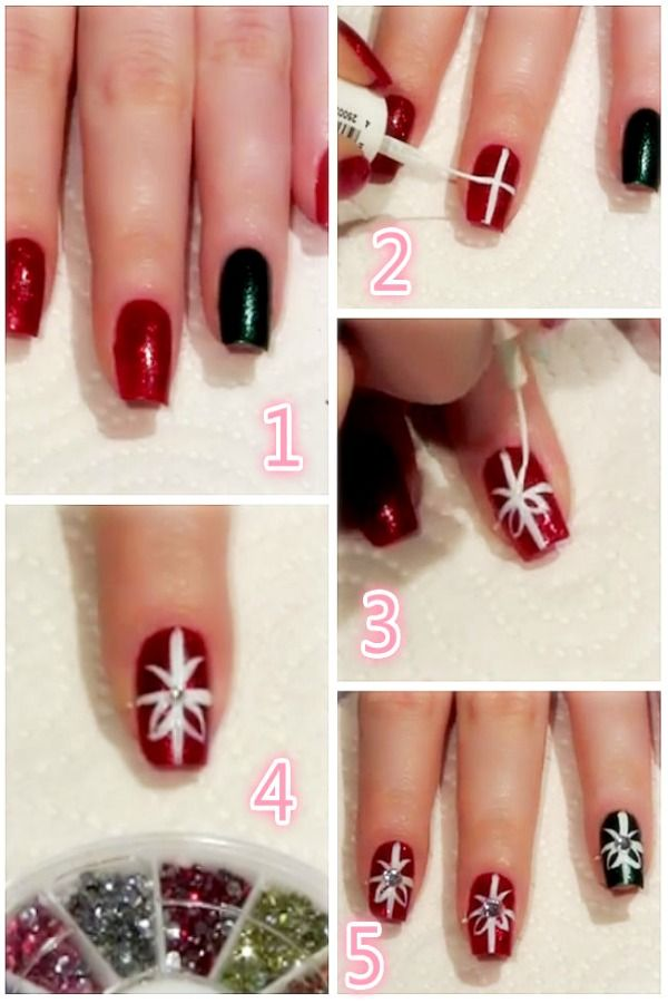 Easy Diy Christmas Nail Art Ideas Tutorials Diy Nail Designs Nail Art Designs Diy Simple Nail Designs