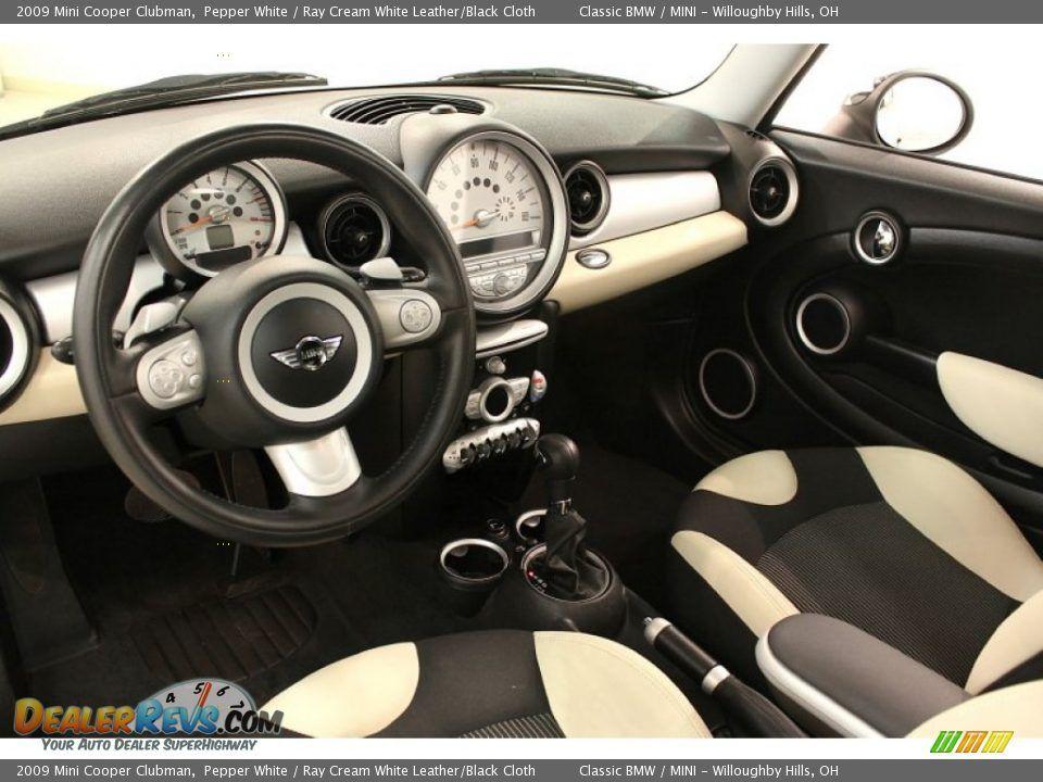 Ray Cream White Leather Black Cloth Interior 2009 Mini Cooper Clubman Photo 9 Cars