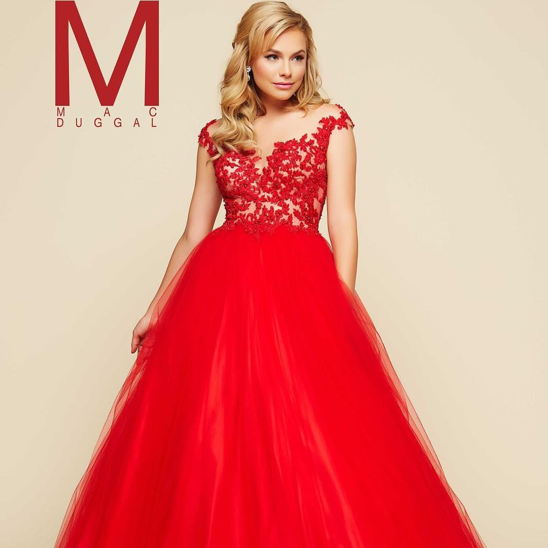 Lady in red gorgeous ball gown by macduggal come see this