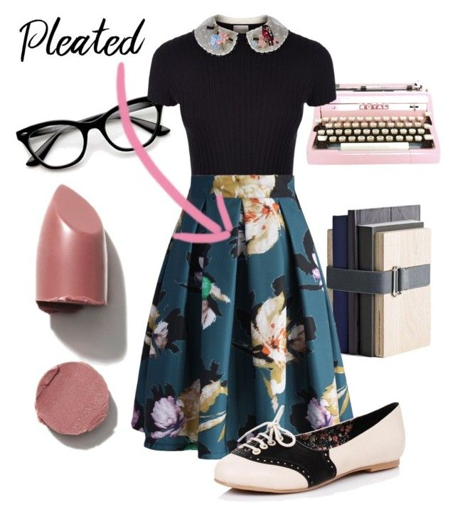 """""""Blast From The Past"""" by onceuponadani ❤ liked on Polyvore featuring Modern Vintage, Menu, RED Valentino, Chicwish and pleatedskirts"""