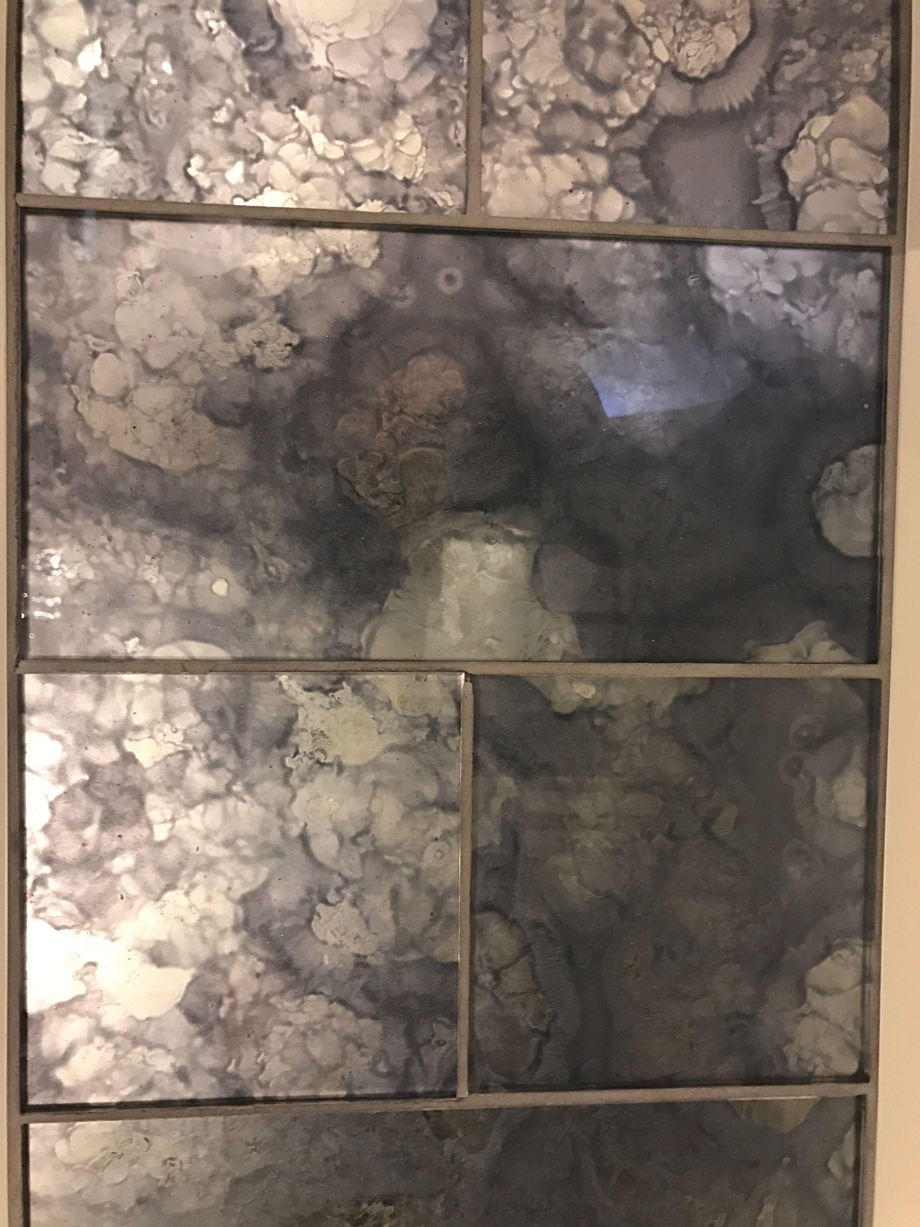 Coffee Bar Option Antiqued Mirror Tile For Backsplash A T J