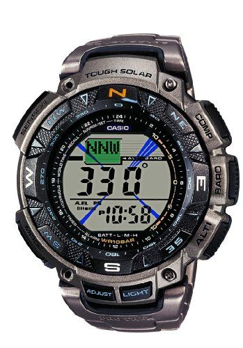 CASIO Pro Trek PRG-240T-7ER – Reloj de caballero de cuarzo, correa de titanio color plata | Your #1 Source for Watches and Accessories