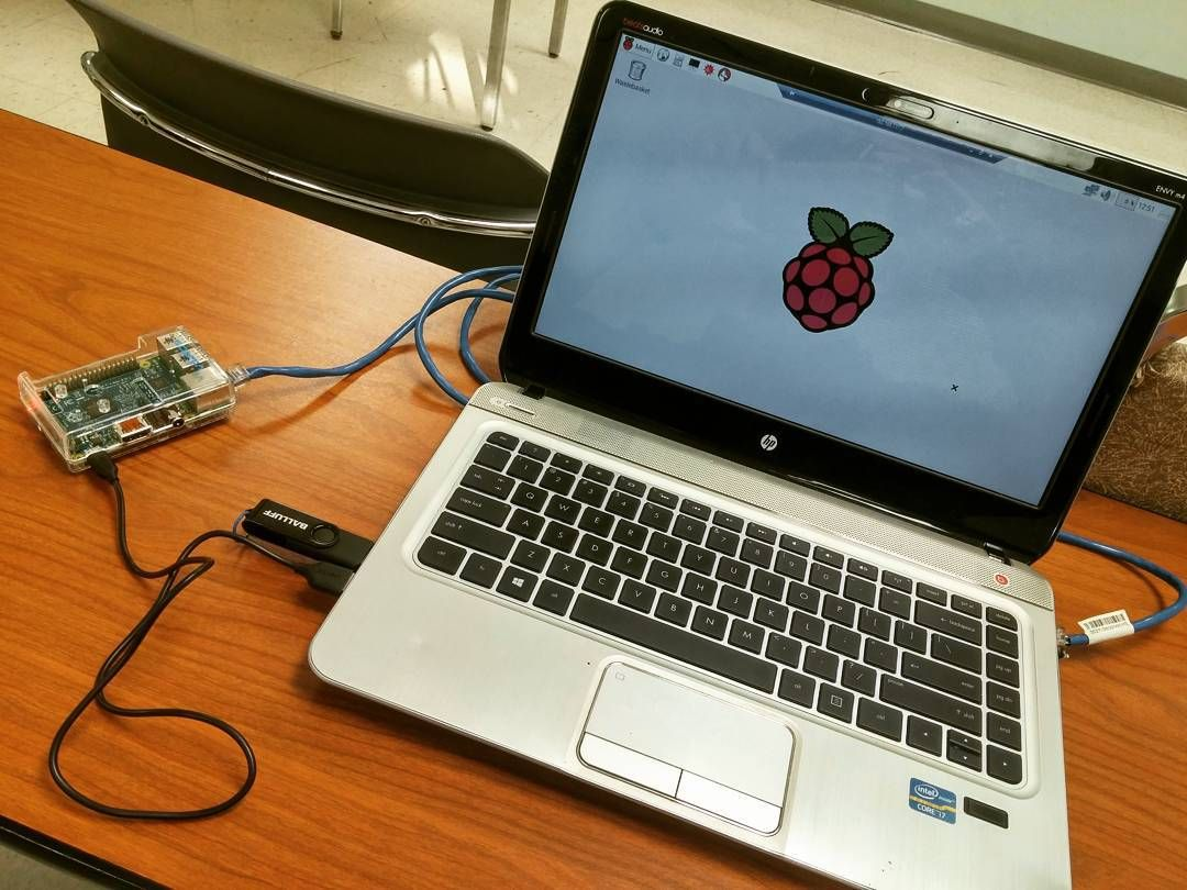 Something we loved from Instagram! Waiting for class. In the meantime... #RaspberryPi by pfjappaco Check us out http://bit.ly/1KyLetq