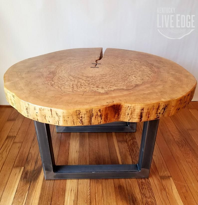 Round Coffee Table Live Edge Industrial Tree Slice Log Rustic Furniture Living Room Side Table End Table Natural Wood Maple Slab In 2020 Coffee Table Wood Wood Slab Table Live Edge Table