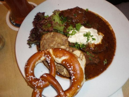 Good German food! A nice Pilsner would go well with that.