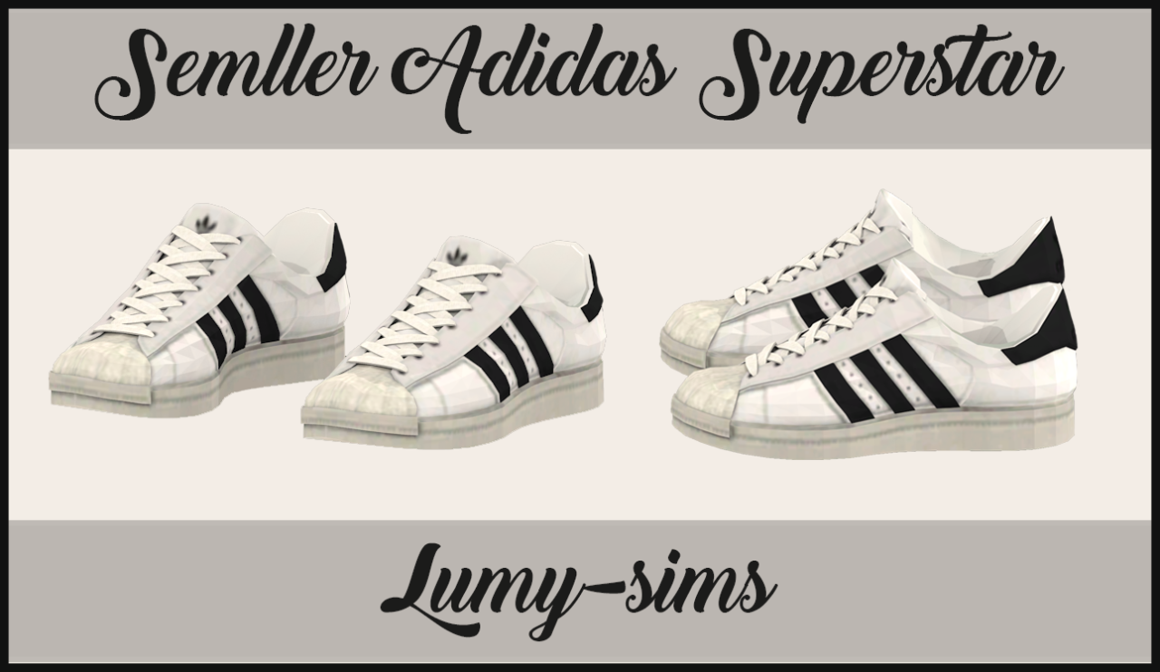 Adidas Women Shoes - Semllers Superstar sneakers conversion at Lumy Sims  via Sims 4 Updates - We reveal the news in sneakers for spring summer 2017