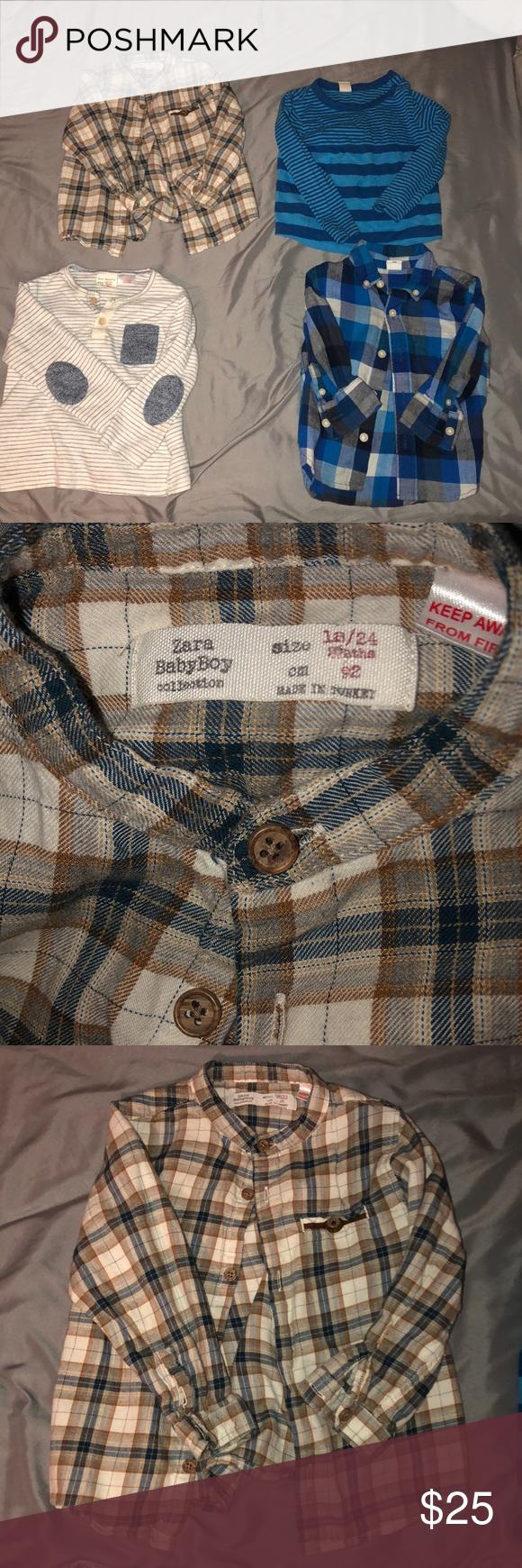 4fa3380ef Boys Shirt Bundle Great Condition. 1. Top left- Zara Baby 18-24 months 2.  Bottom Left- Zara Baby 18-24 months 3. Top right- Tucker Tate 24 months 4.