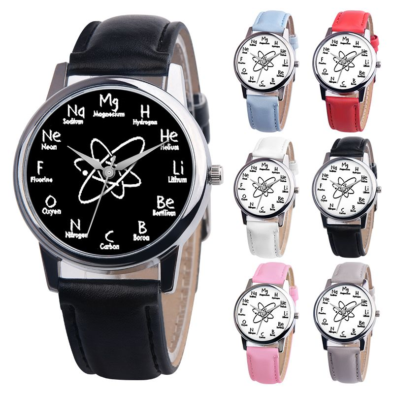 035d6fe6bdb DHL free 100pcs Fashion New Chemistry Watch with Chemical Elements Music  Not watches for Ladies Women