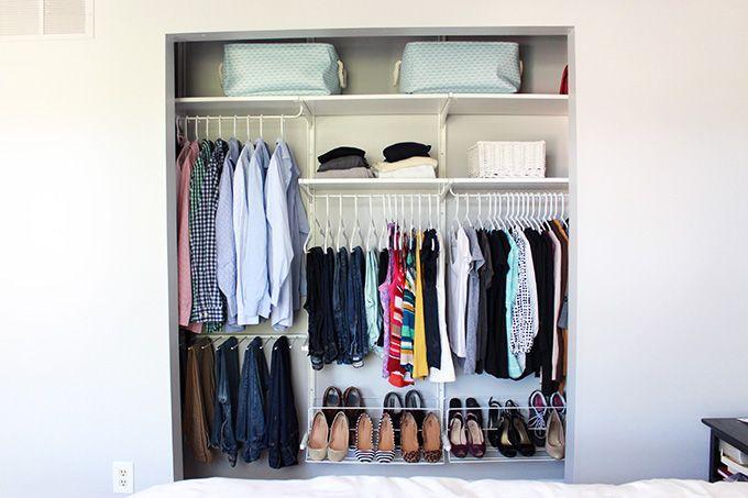 How To Organize A Small Closet Closets